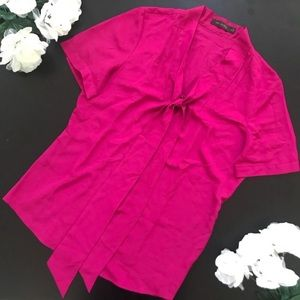 The Limited tie front chiffon blouse medium
